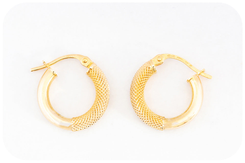 Elegant 10mm 9k Yellow Gold Hoop Earring - Victoria's Jewellery