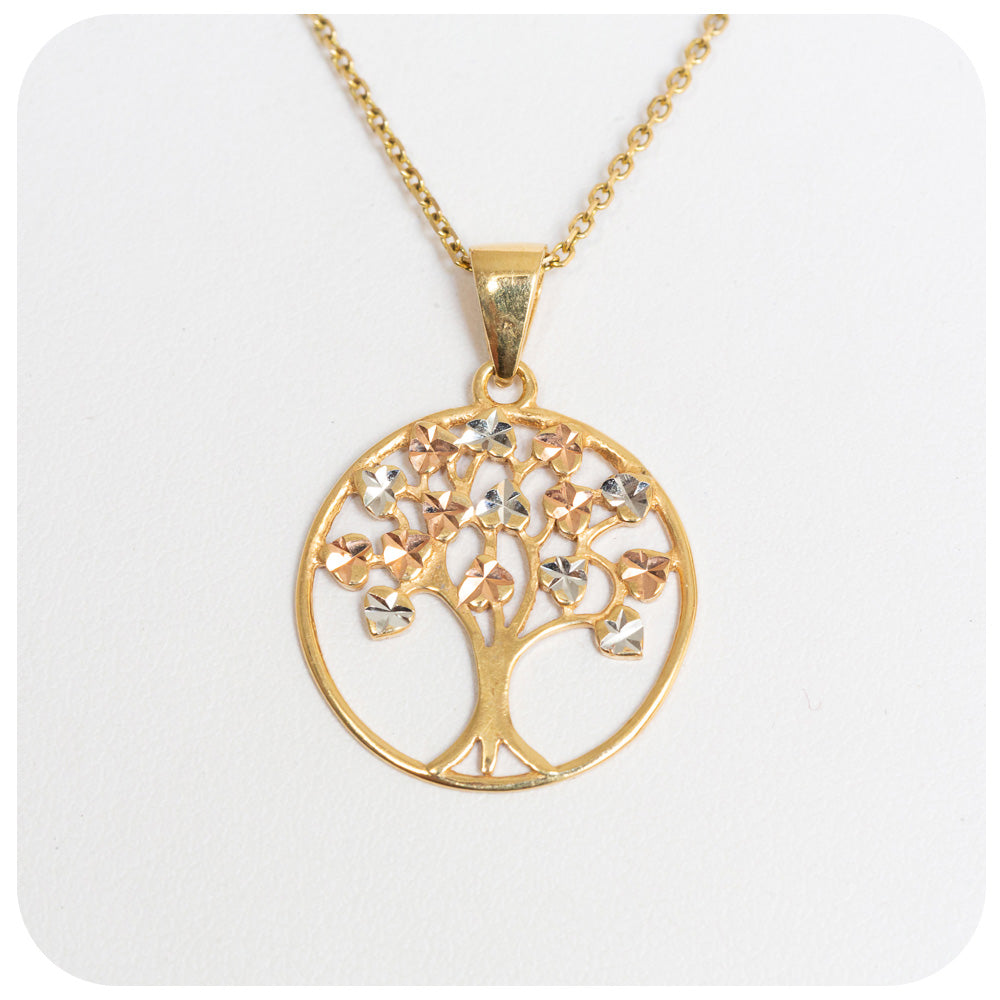 9k Yellow Gold Shimmering Tree of Life Pendant - Victoria's Jewellery
