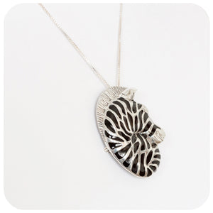 Silver Zebra Brooch and Pendant - Victoria's Jewellery