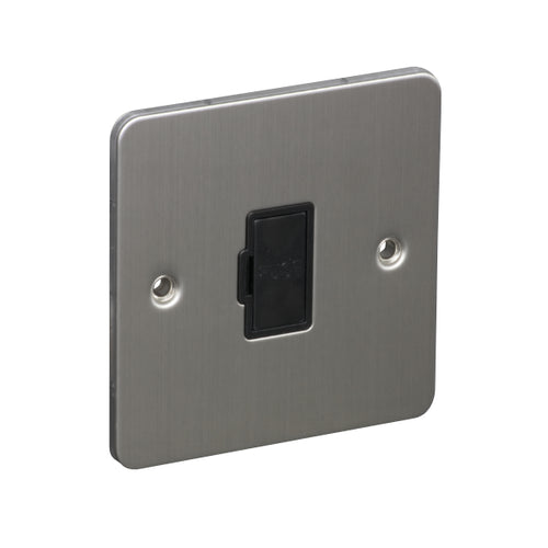 1 Gang 13A Unswitched Fuse Connection Unit Spur Flat Plate