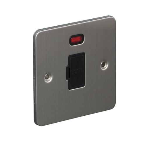1 Gang 13A Unswitched Fuse Connection Unit Spur with Neon Flat Plate