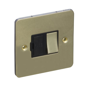 1 Gang 13A Switched Fuse Connection Unit Spur Flat Plate