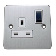 Load image into Gallery viewer, 1 Gang 13A Switched Socket Flat Plate