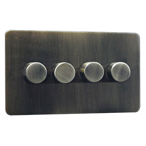 4 Gang 2 Way Dimmer Switch Screw Less Plate