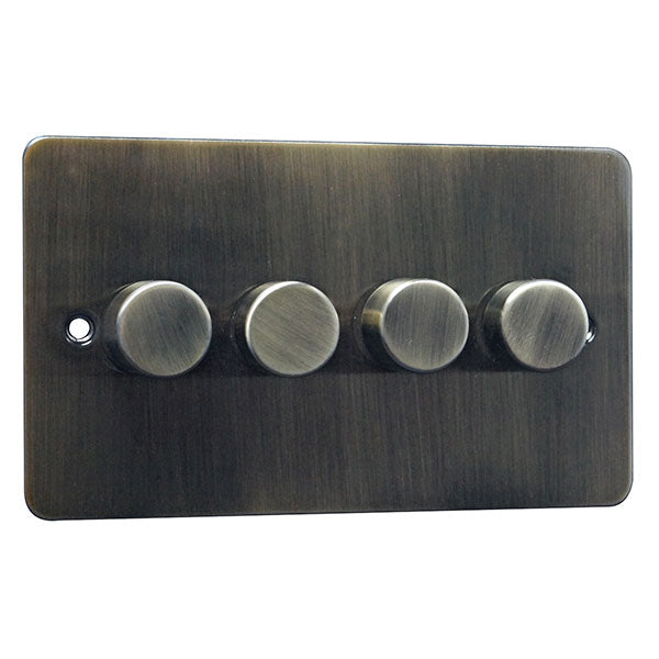 4 Gang 2 Way Dimmer Switch Flat Plate