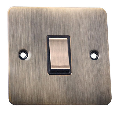 1 Gang 2 Way Rocker Flat Plate