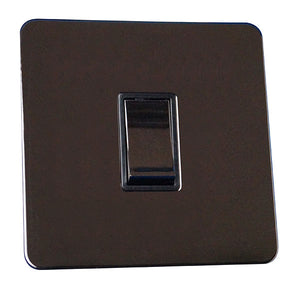1 Gang 2 Way Light Switch Screw Less Plate
