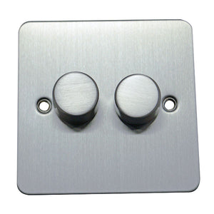2 Gang 2 Way Dimmer Switch Flat Plate