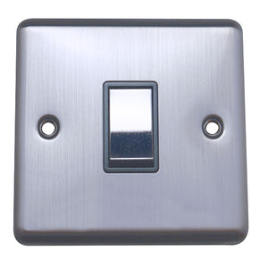 1 Gang 2 Way Light Switch Round Angled Plate