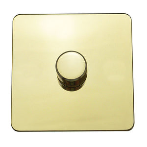 1 Gang 1 Way Dimmer Switch Screw Less Plate