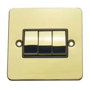 3 Gang 2 Way Rocker Flat Plate