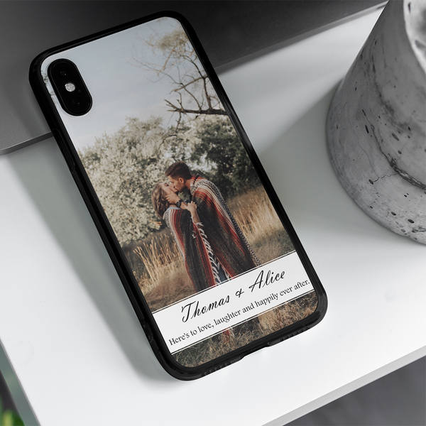 Here's To Love Laughter And Happily Ever After, Custom Photo Phone Case