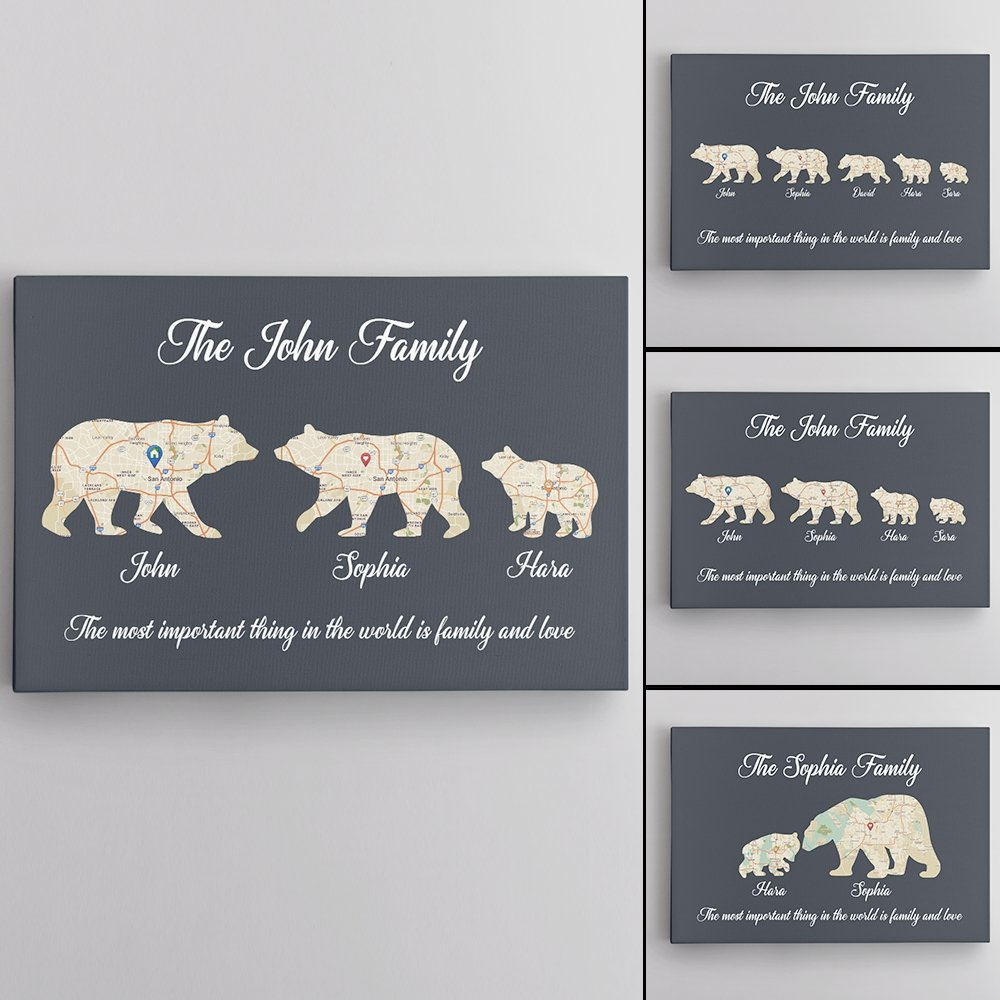 This Father's Day is the best chance to show your Papa Bear how much you love him. A Unique Canvas Wall Art symbolized a Bear Family will remind everyone in your family that Mama Bear and Baby Bear will always be waiting for Papa Bear at home.