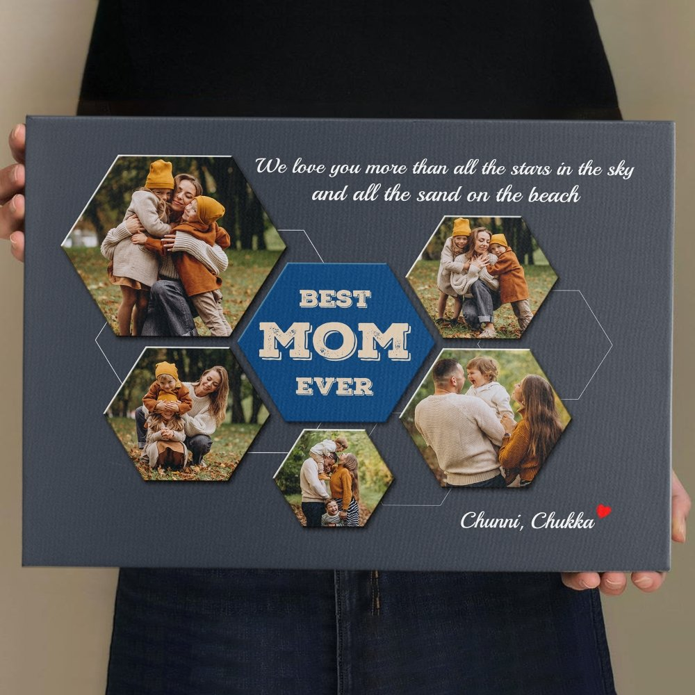 Another photo gift idea is Best Mom Ever Custom Photo Collage. It is one of the greatest mother and son photo gifts for mother's day. Just simply upload your pictures capturing your fondest moments with mom to show that every second with her is priceless. This will bring her to tears of happiness.