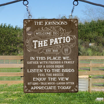 Custom House Sign, Welcome To The Patio