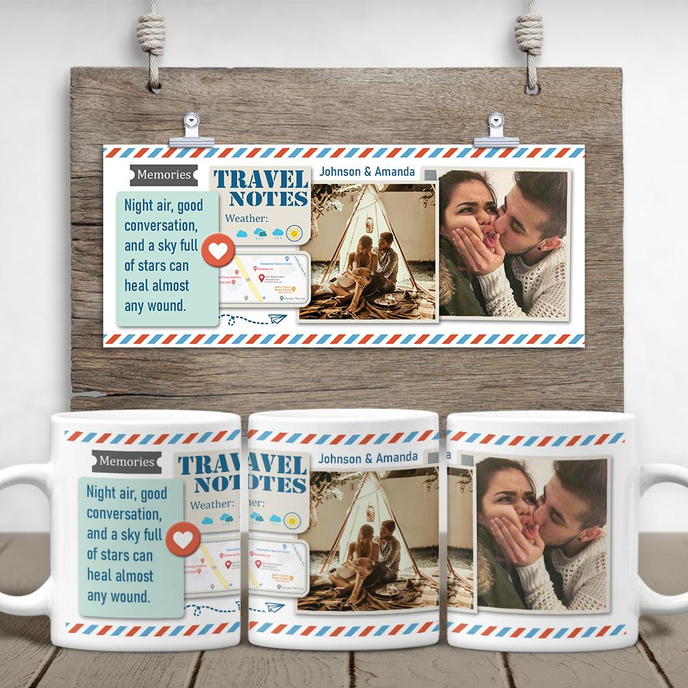 Turn your in travel memories into a wonderful coffee mug with famiprints. Available in 11oz &15oz. Just personalize it with text, pictures, and location to make a one-of-a-kind Valentines gift. Create your own photo mug today!