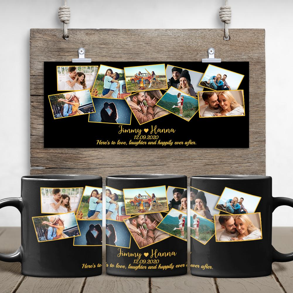 The smell of hot coffee in the morning is really addictive. Let's keep his coffee taste better with this beautiful photo coffee mug. Choose the pictures you love and the designers will customize them in a way both you and your man would fall in love with.