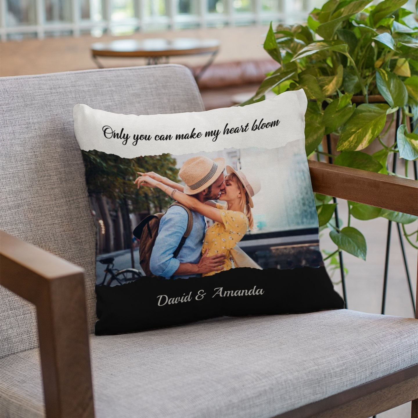 Girls always like to have a pillow when she rests, so get her a special pillow that makes her miss you and love you more. In that case, a photo pillow is a perfect idea. Just customize a pillow with your favorite photo and a personal message on it. Your interesting gift will make her smile whenever she sees it.