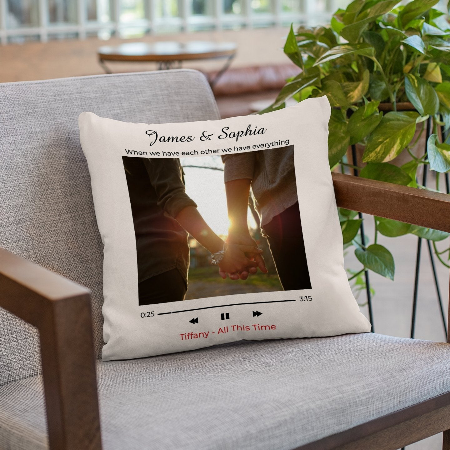 This pillow with photo, song title & artist name on it is the perfect cozy Valentine's Day for him. A music themed gift he will cherish for years to come. Easy to customize and enough to melt his heart. Design your romantic anniversary gift for husband today!