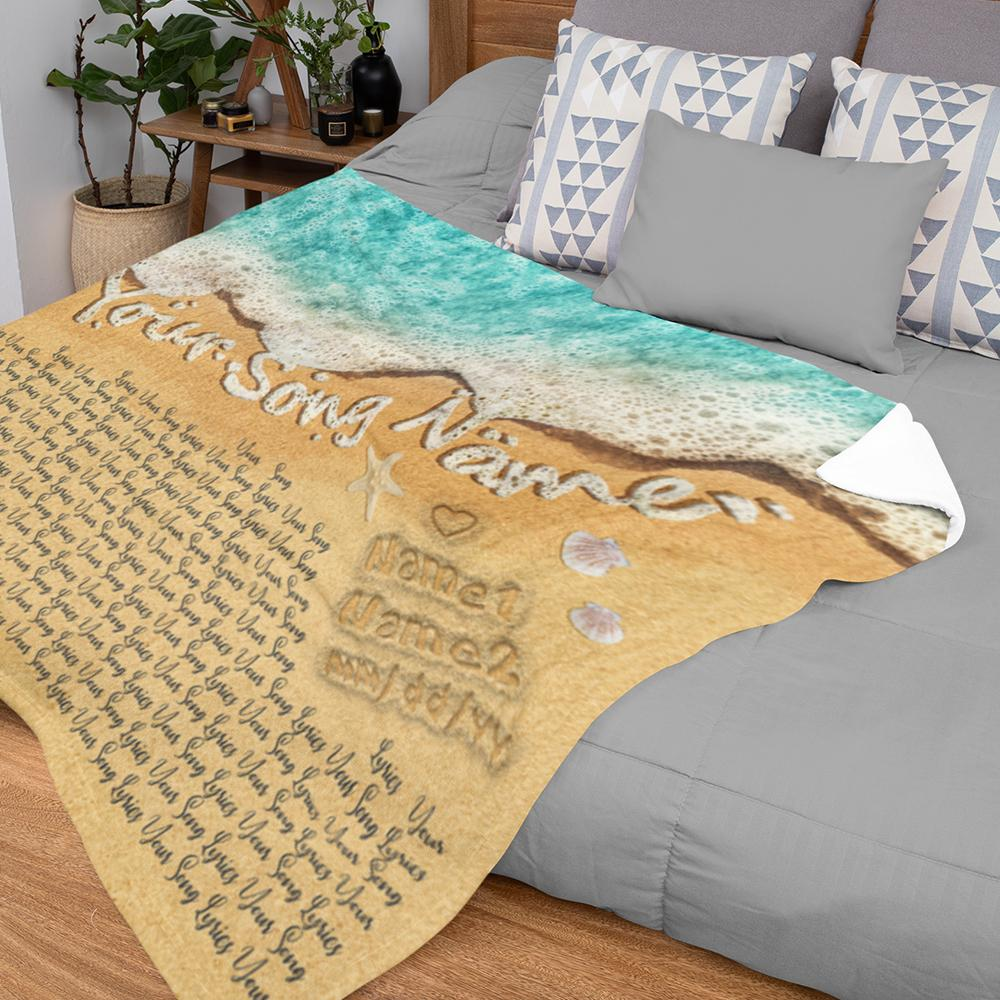 You are looking for a cool gift that still close to mom? Then, try this idea - Custom Song Lyrics in The Sand Ocean Blanket. The ocean printed on this blanket stands for the immensity of mother's love and you can add any meaningful song lyric on it to make it unique for her. This blanket will cosset her and blow off all the stress. What could be a cool and warm mother's day gift rather than this one?