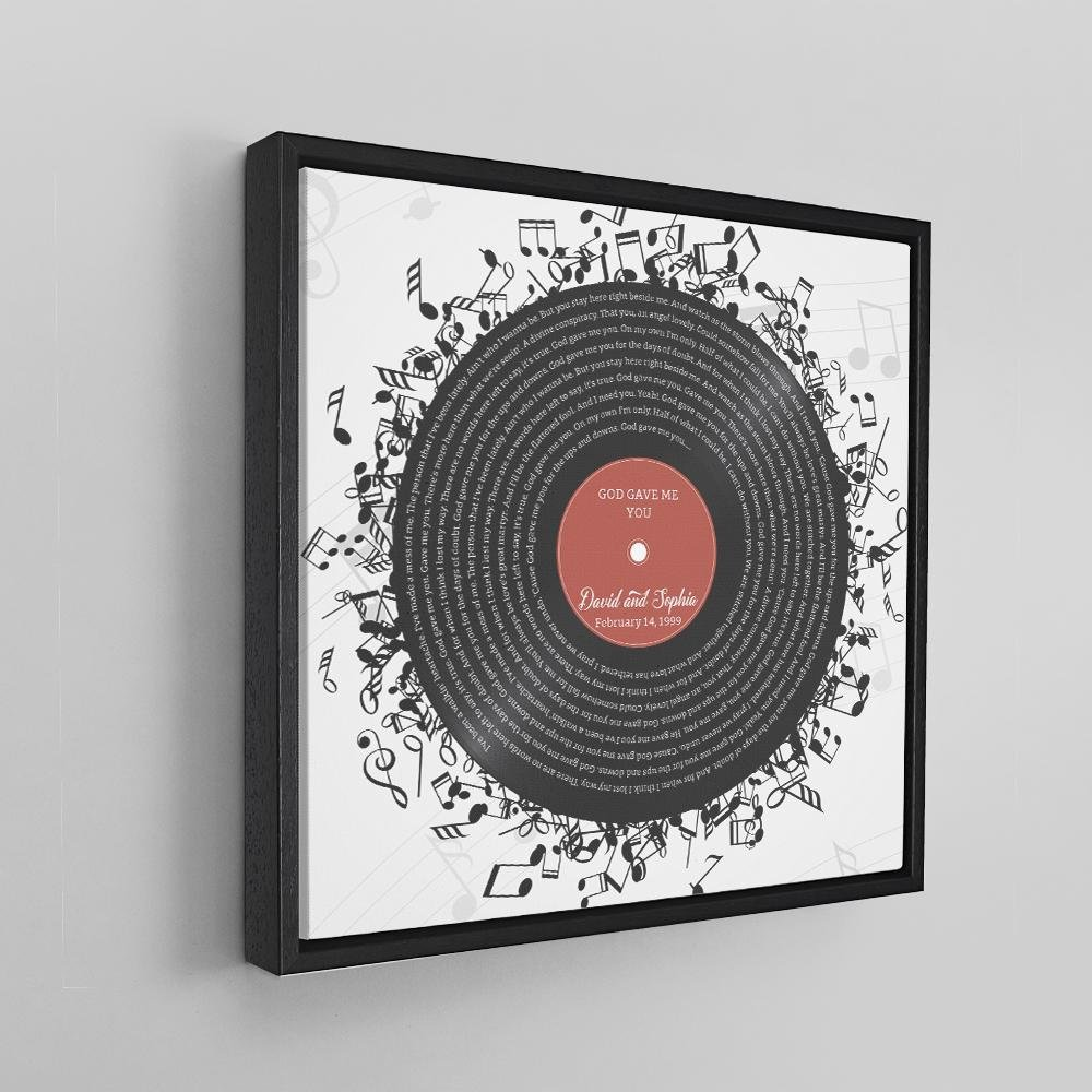 If he already has a favorite song for himself, consider setting up a Custom Lyrics Canvas of his favorite song. This music present will definitely fit in his unique record collection of old-school music.