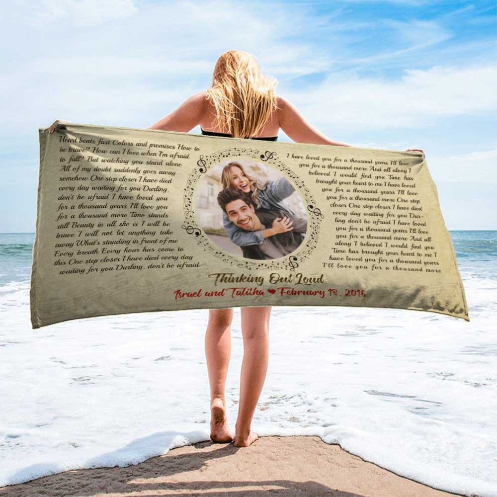 Is he setting a plan for this summer? Amp up the hype now with this beautiful Beach Towel. Choose a picture, a song, and the made-for-him beach tower will probably serve him well.