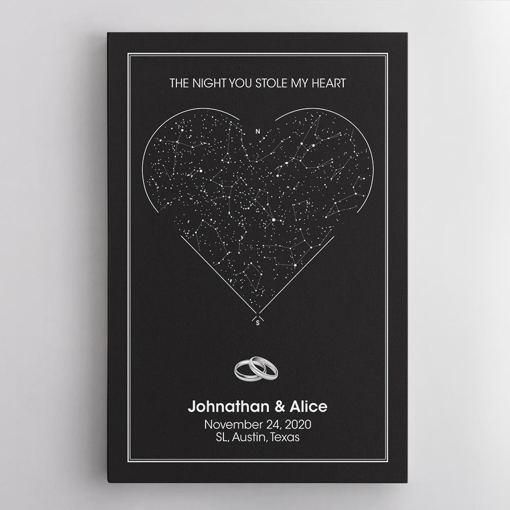 Looking for a unique Valentines gift to celebrate a special moment in your life - your first met, first kiss, first date, or your wedding date. You found it. The gift of a night sky map lets your most personal and significant memories live on forever. Design your now!