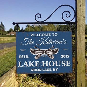 Customized Lake House Sign, Welcome