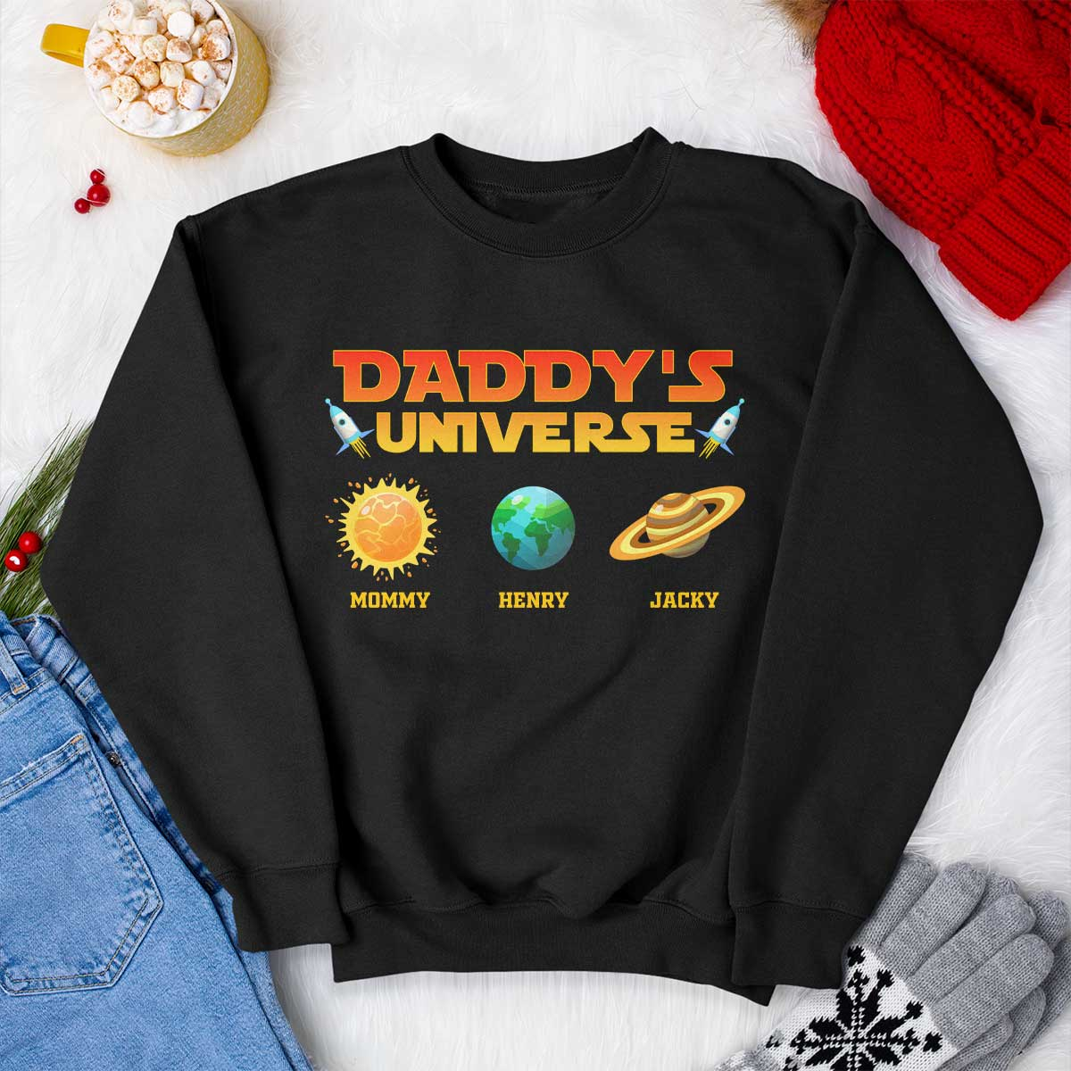 Sweatshirt? - Isn't it quite plain? - If that's the case, you don't have to worry, just customize with your name to make it a one-of-a-kind shirt. I bet he would love to wear it every time he goes to a BBQ party or any other occasion.