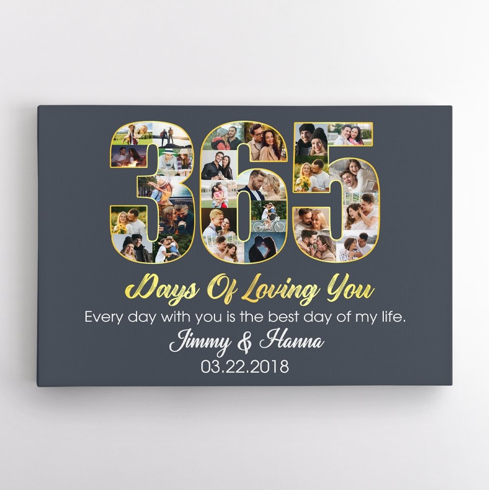 You are searching for wedding anniversary gifts that make the most of wedding pictures awesome, Custom Love Time Calculator Canvas Wall art cannot be off of your list. This includes your pictures and any text that you want to add. Also, it's the cutest way to count the days, weeks, and years you love. From then on, you will never forget any anniversary dates with the help of this personalized wall art.