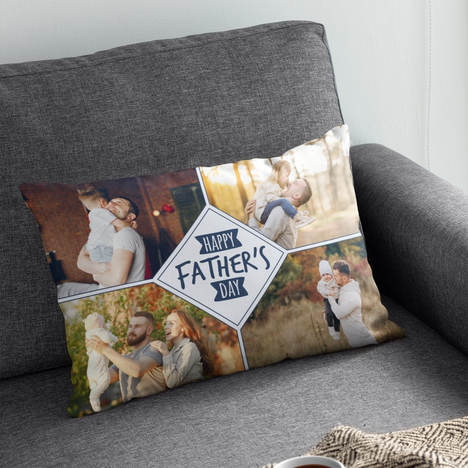 The feeling when you can finally lie down on the couch and take a quick nap is incomparable. Let's make it better with a custom photo pillow featuring beautiful pictures of your choice. Surely it'll make your husband's leisure time more comfortable.