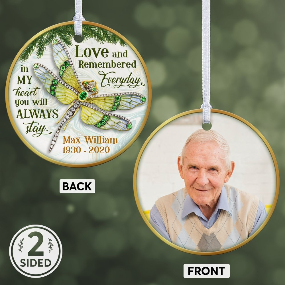 It's hard to forget a beloved person who stopped going with us in this world. If you're in this unhappy situation, this personalized memorial ornament will be a considerable choice for you to honor the memory of your loved one. Personalize the ornament in your own way and express your love like he is still being around. It's also a meaningful gift for someone who lost a parent.