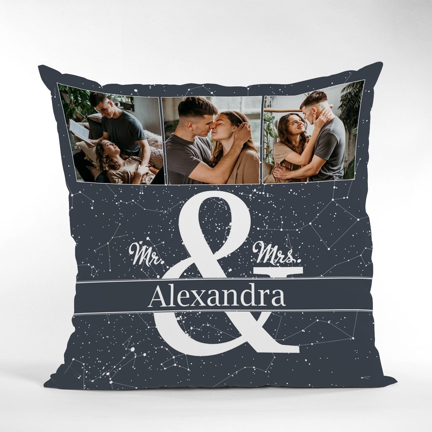 Combined with a constellation chart at night, a photo collage and your last name, the star map pillow is absolutely a thoughtful anniversary gift idea for your astronomy lover. This pillow style contributes to beautifying your comfort zone, making it more magical and memorable.
