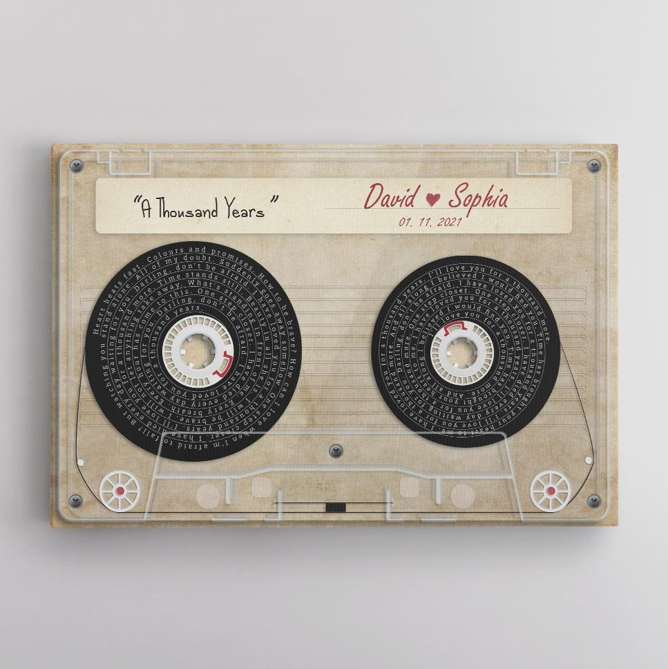 This custom song lyrics art including the lyrics of your favorite song, as well as your names and date. This is a perfect valentines gift for husband and a romantic surprise for him. Let song bring back memories from that special day!