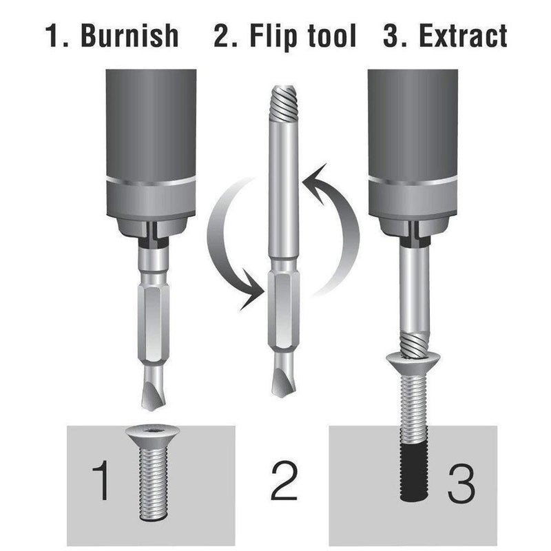 Bunnyear™ Damaged Screw Extractor (Set of 4)