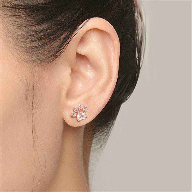 Cute Cat Paw Earrings