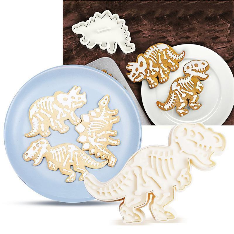 Bunnyear™ Dinosaur Cookie Molds(3 pics/set)