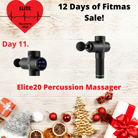 Percussion Massager 20 speed lcd screen eliterecoveryshop heart logo christmas decorations