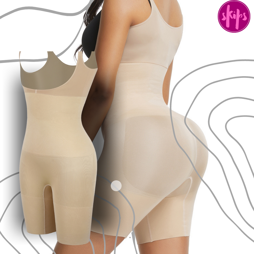 Underbust Super Slimming Bodysuit with Overlapping Gusset