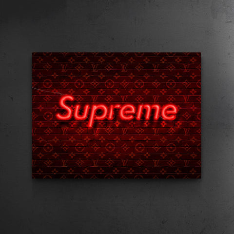 Neon Supreme x LV - The BLK Gallery