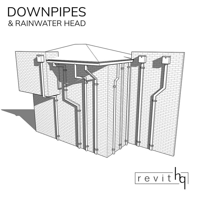 RevitHQ Family - Downpipe & Rainwater Head