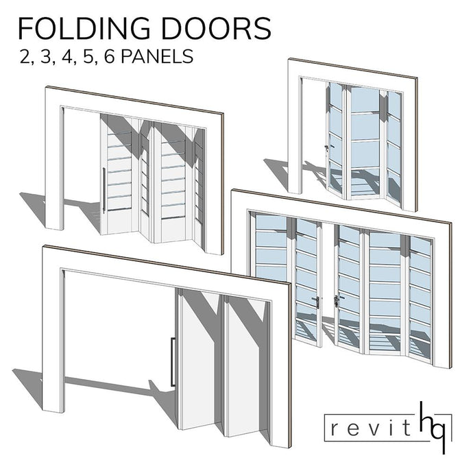 RevitHQ Family - Multiple Folding Panel Door Set