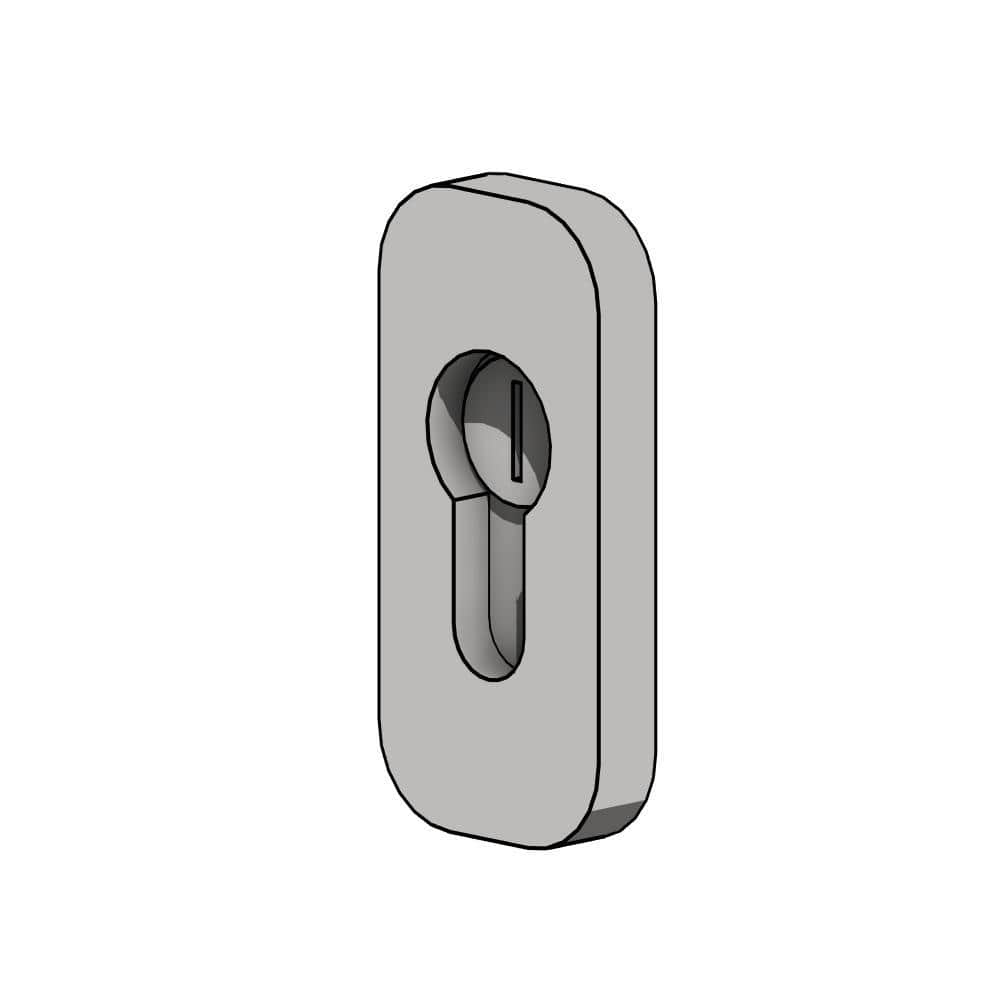 RevitHQ Door Hardware Covered Cylinder Lock