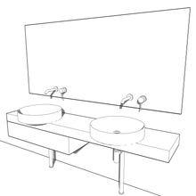 Load image into Gallery viewer, Vanity and Basin Set