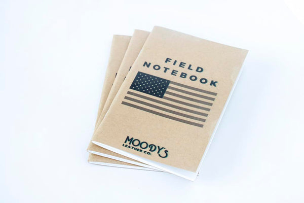 Field Notebook (Pack of 3) - Moody's Leather Co.