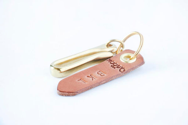 Brass Fish Hook Keychain & Tag - Moody's Leather Co.