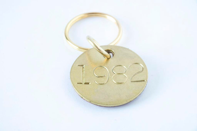 Brass & Leather Keychain - Moody's Leather Co.
