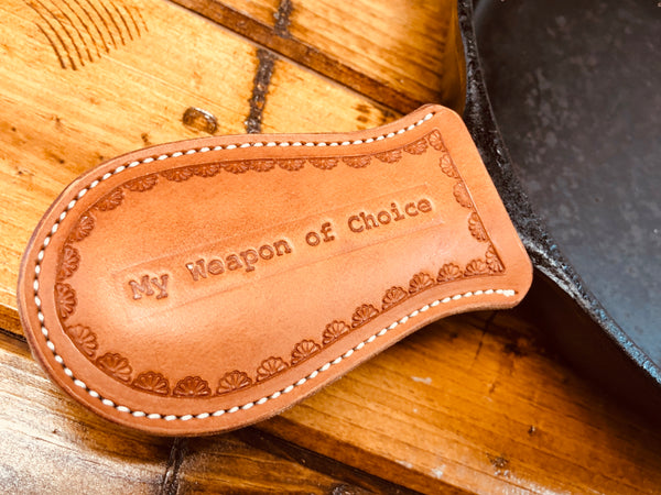 Cast Iron Skillet Handle Covers - Moody's Leather Co.