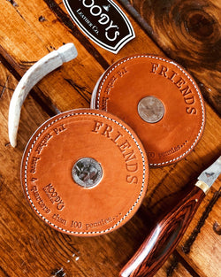 Friends Coaster (4 Per Set) - Moody's Leather Co.
