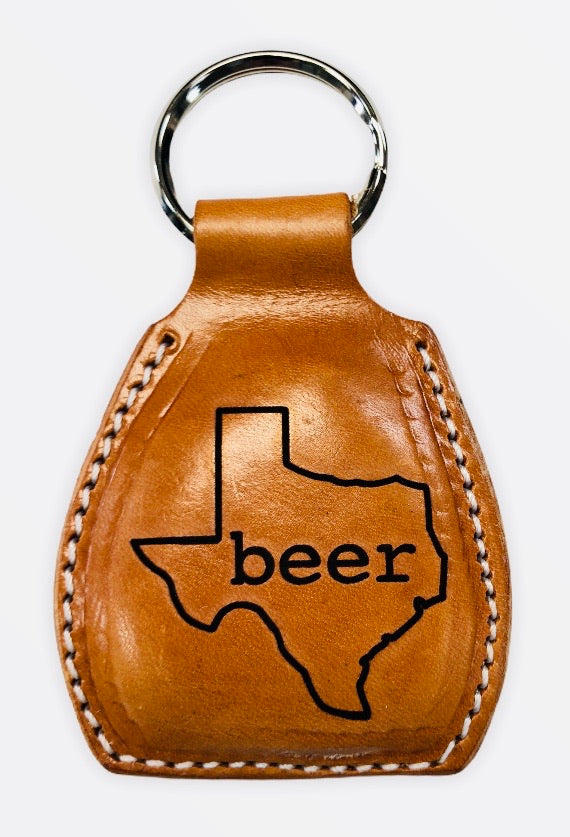 Beer Opener Keychain - Moody's Leather Co.